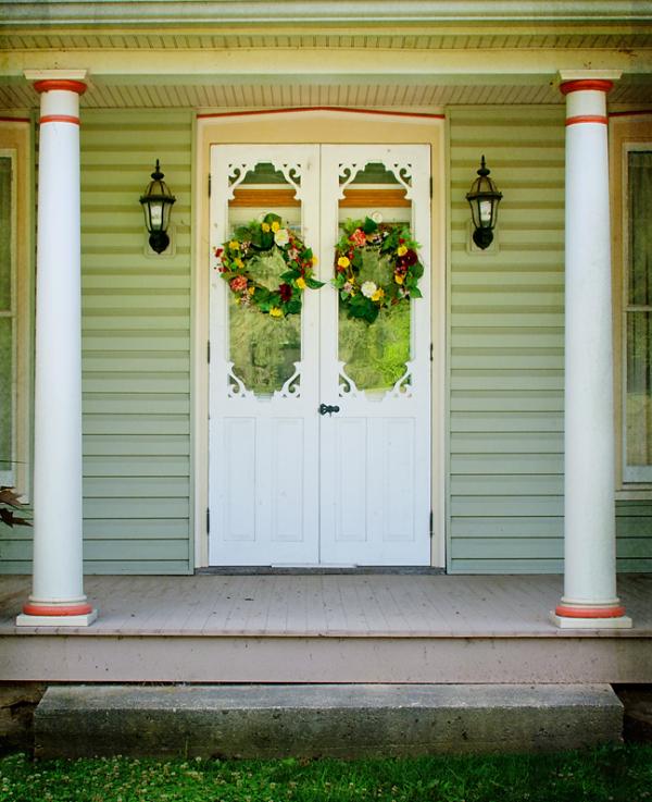Door with Wreaths