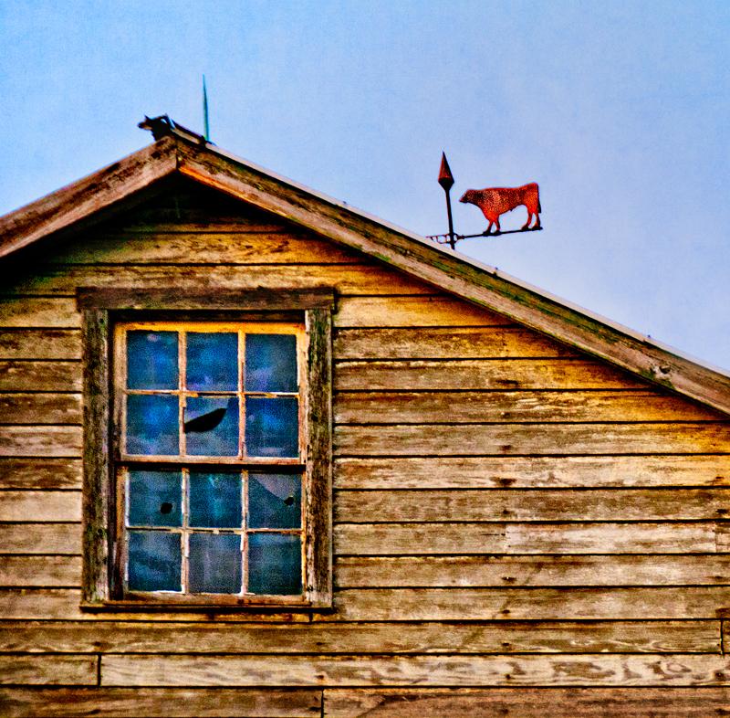 barn with weathervane