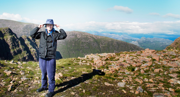 Me hiking on Applecross, Scotland
