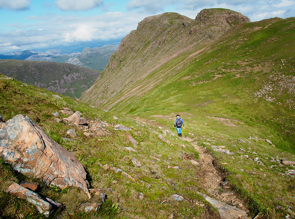 David hiking at Applecross, Scotland
