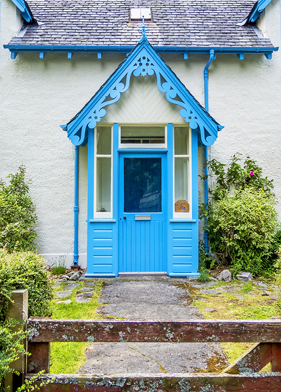 Blue Door in Kinloch Rannoch, Scotland