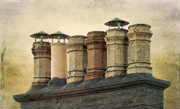 Chimneys in Selkirk, Scotland