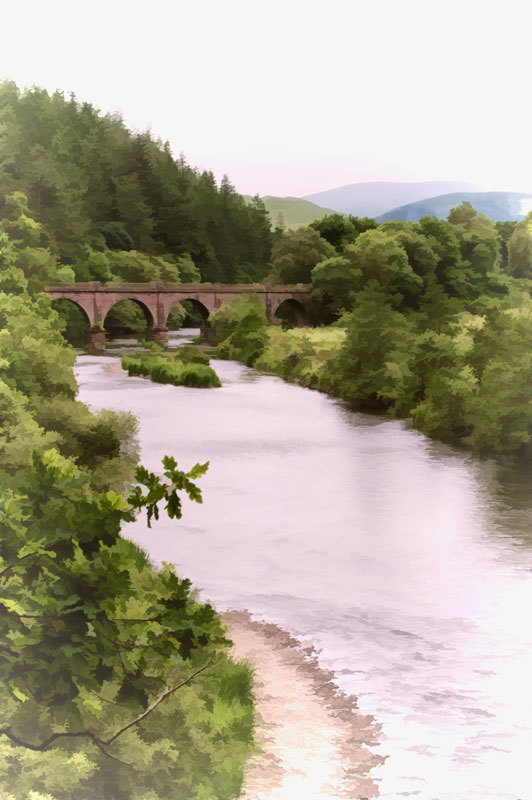 River Tweed and Bridge, Scotland