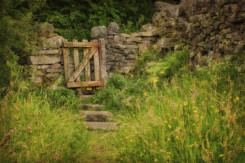 Stone wall and gate