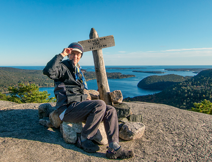 Me on top of Acadia Mountain