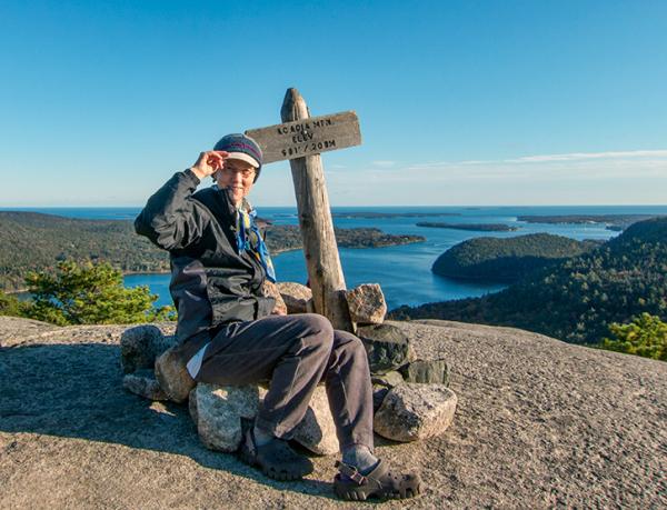Me on top of Acadia Mountain