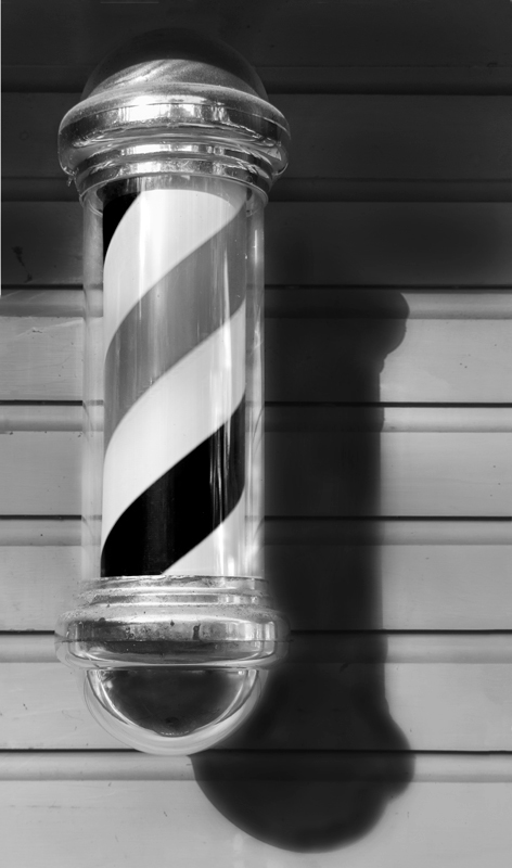 Barber Pole in Black & White