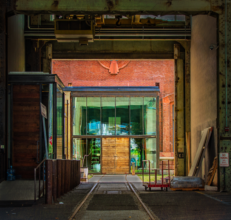 Door Through Warehouse