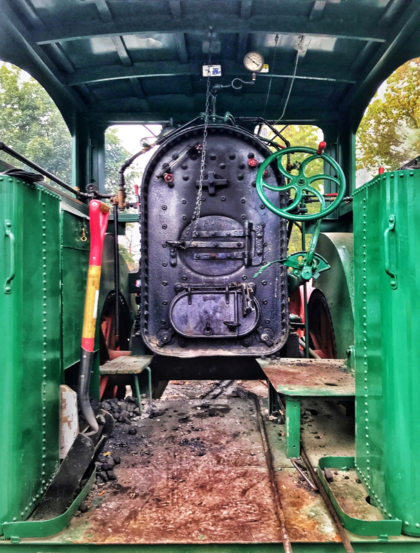 Coal Boiler on Steam Tractor