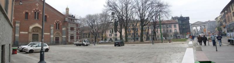 piazza and corso di Porta Ticinese (Milan - Italy)