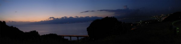 view of detroit of Messina from Reggio Calabria
