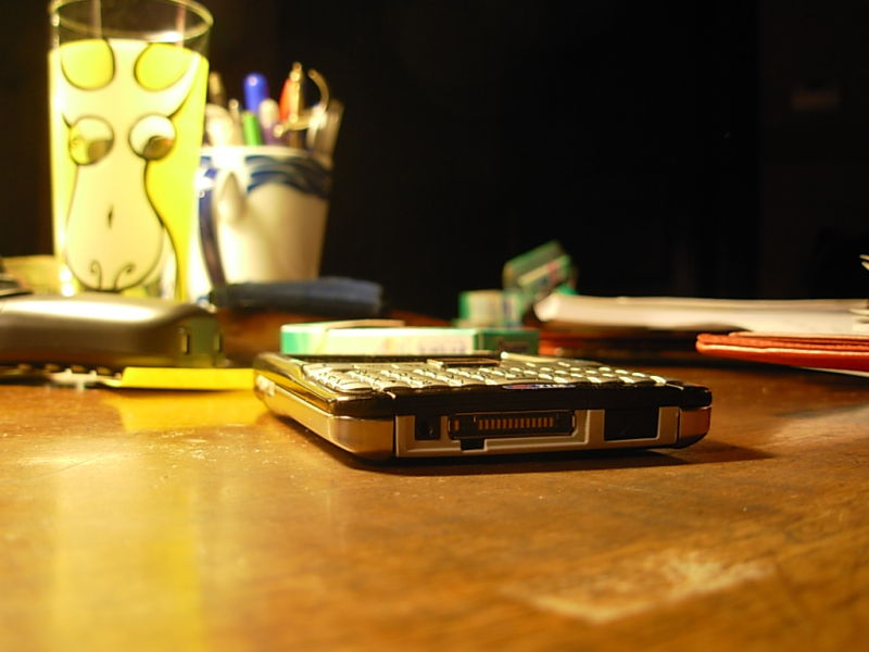 my mobile on my desk