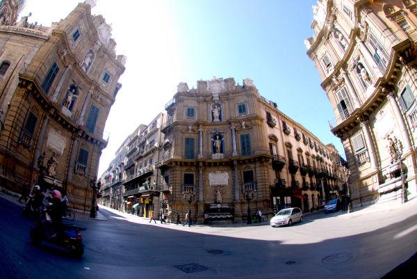 Quattro canti in Palermo (Sicilia, Italy)