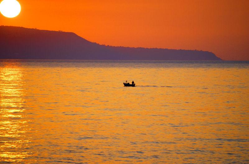 A sunset near Scilla, Reggio Calabria, Italy