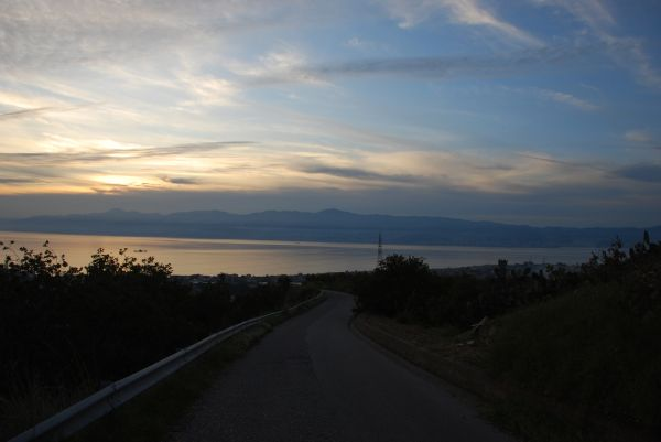 Italian sunset from Reggio Calabria