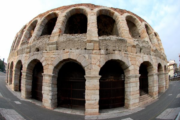 The famous arena of Verona
