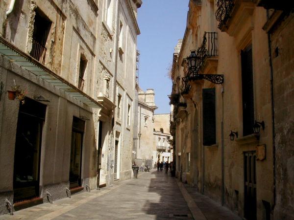 Lecce's street, Puglia, Italy