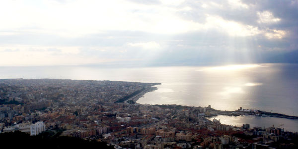 Reggio Calabria as seen from its hills
