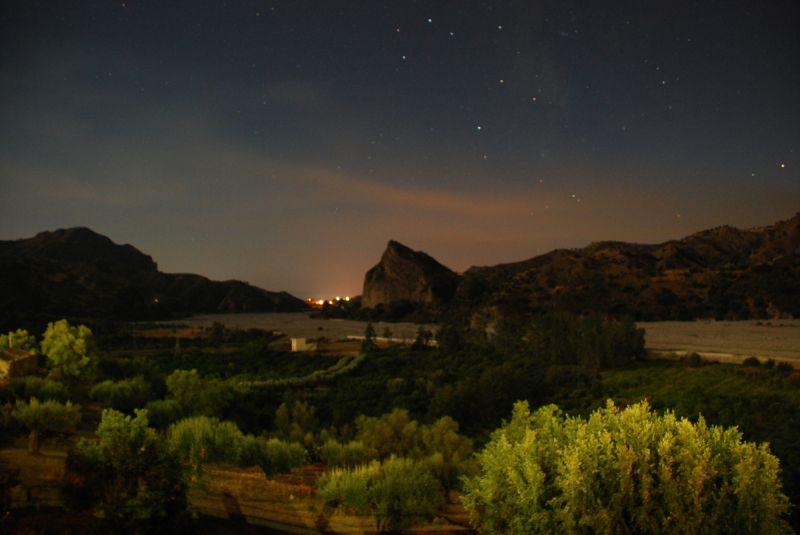 Amendolea by night, south Italy