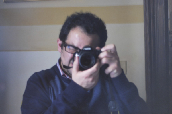 This is me as shown with my new lense: a new 50mm