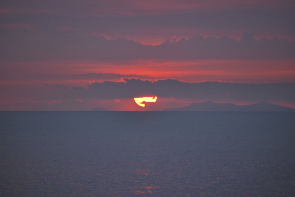 A sunset capture in southern Italy's Calabria