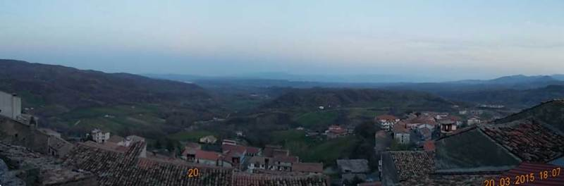 A panorama from Mottafollone, Calabria