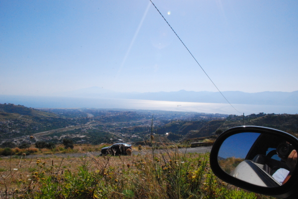 A view of Reggio Calabria southbound