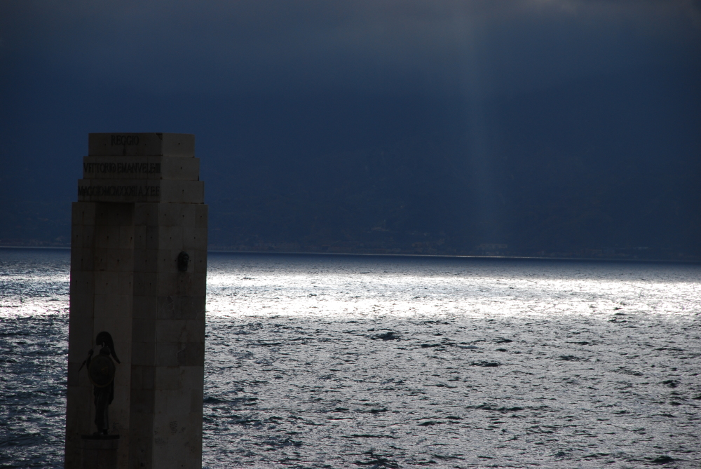 A view of the sea from Reggio Calabria