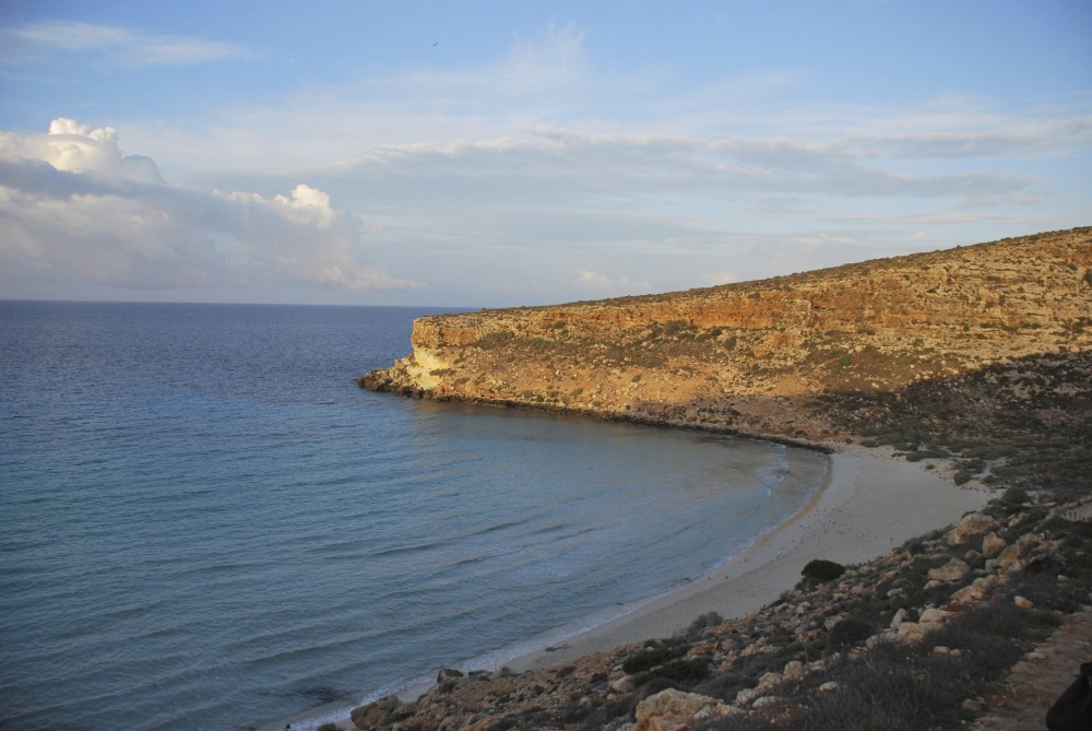 A sunrise in Lampedusa