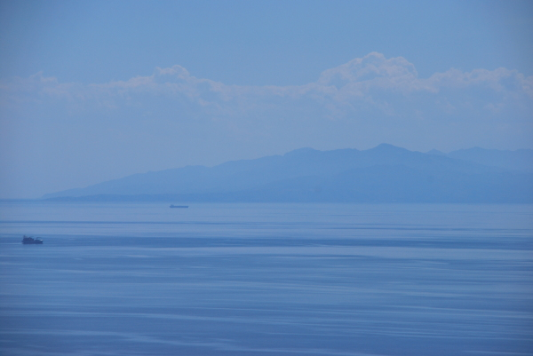 A image of the sea in southern Italy