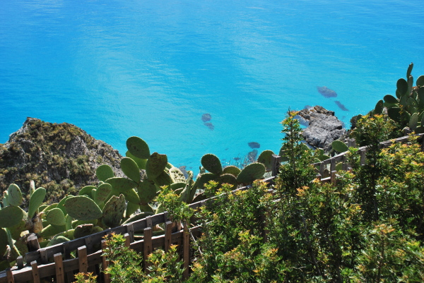 An image of the sea in Calabria, Italy
