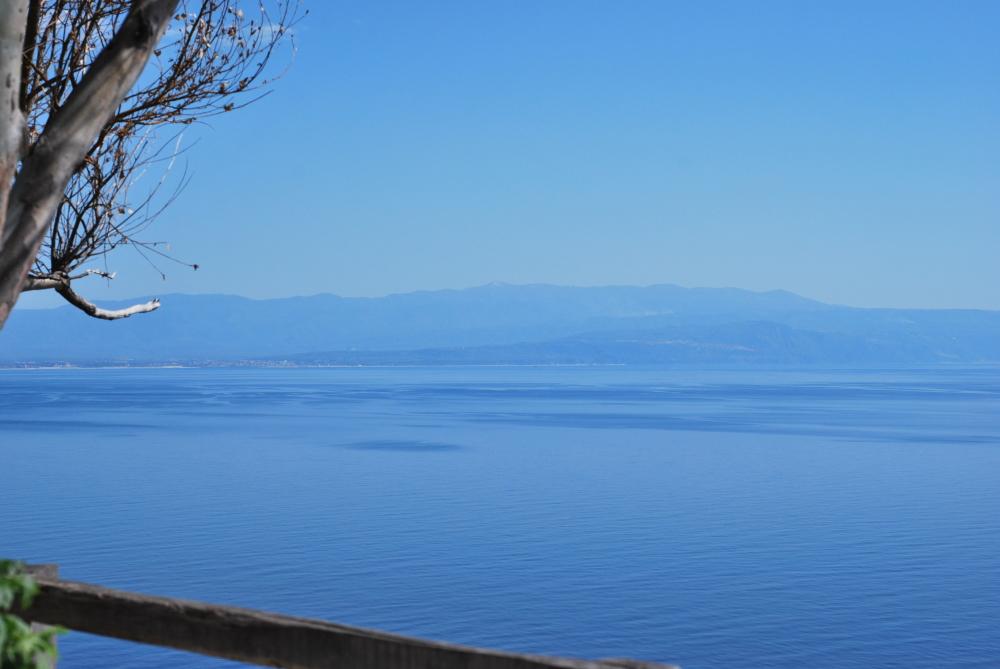 A blue image of the sea in Capo Vaticano, Calabria