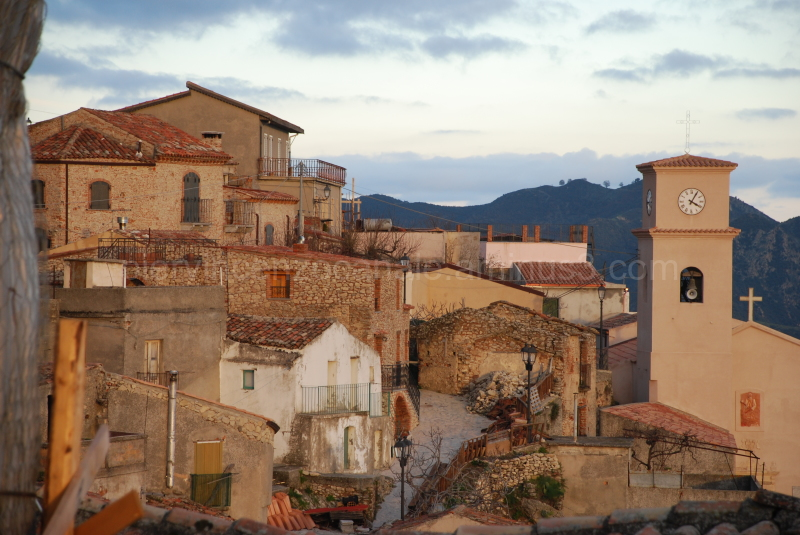 A view of Bova in Calabria, Italy