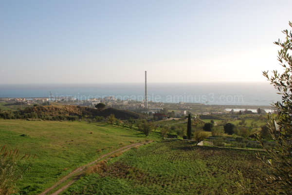 Panorama of Saline Joniche former industrial plant