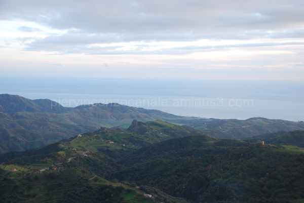 Panorama of southern Italy, the tip of Europe