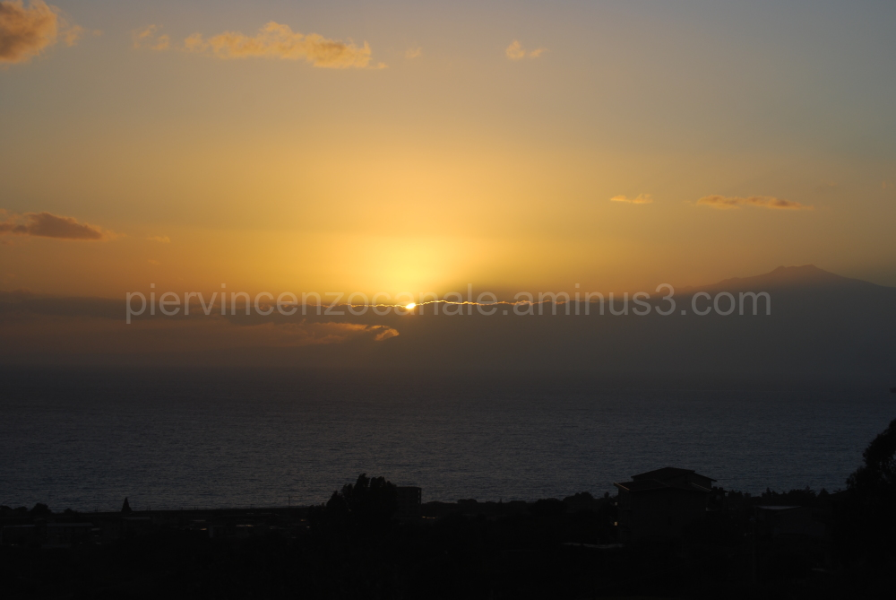 Panoramic view of a sunset in southern Italy
