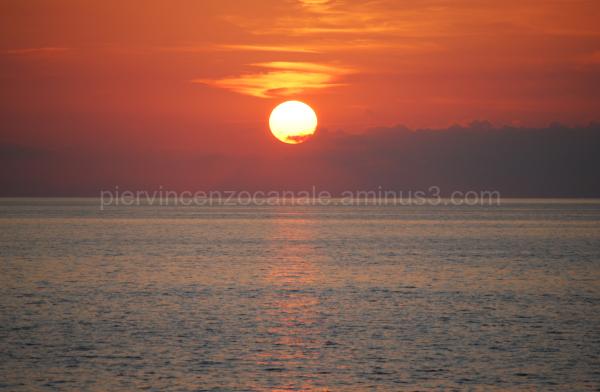Sunrise or sunset? Panorama shot from Favazzina