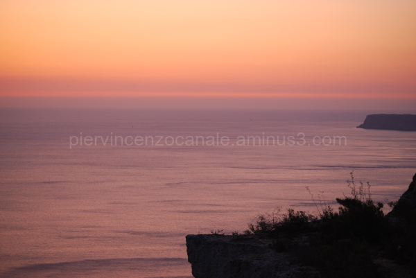 A view of sunset from Lampedusa.