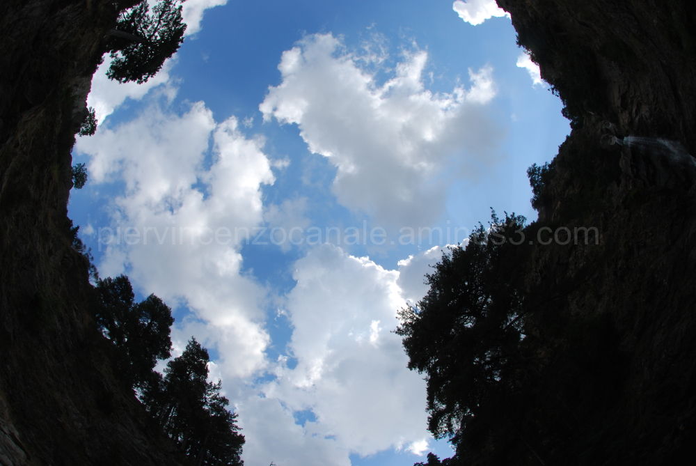 A view of the sky from the mountains in Calabria