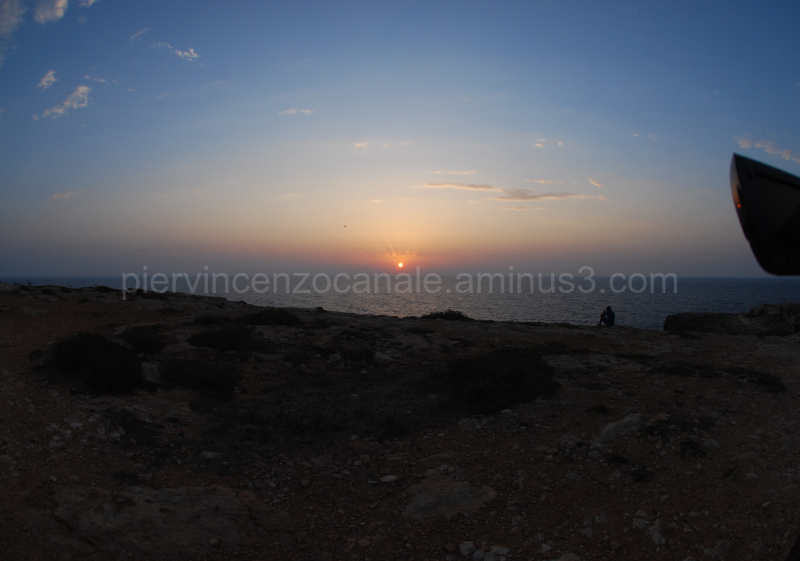 A view of the sunrise from Lampedusa, Europe.