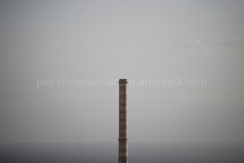 A view of the chimney of Saline Joniche, Reggio C.