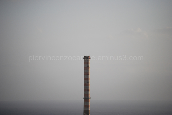 A view of the chimney of Saline Joniche, Reggio C.