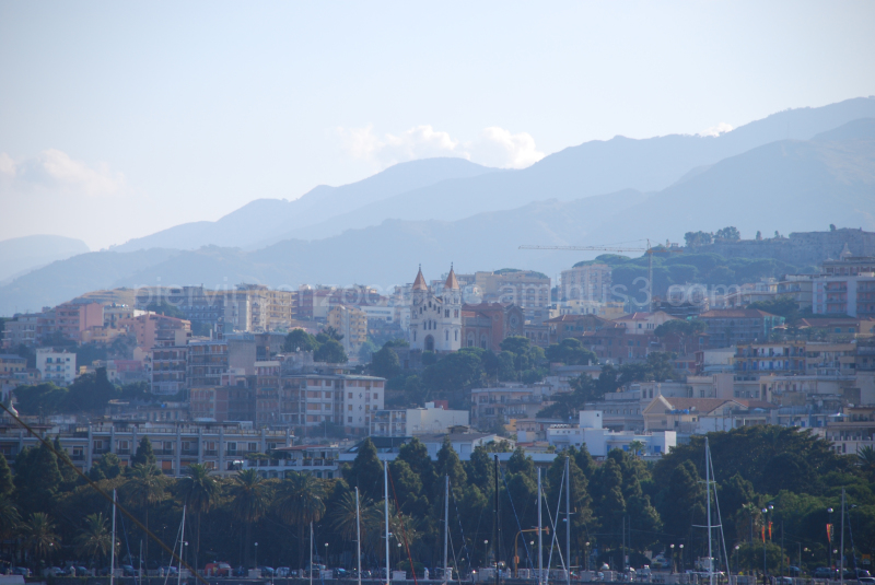 A view of the city of Messina, Sicily, Italy.