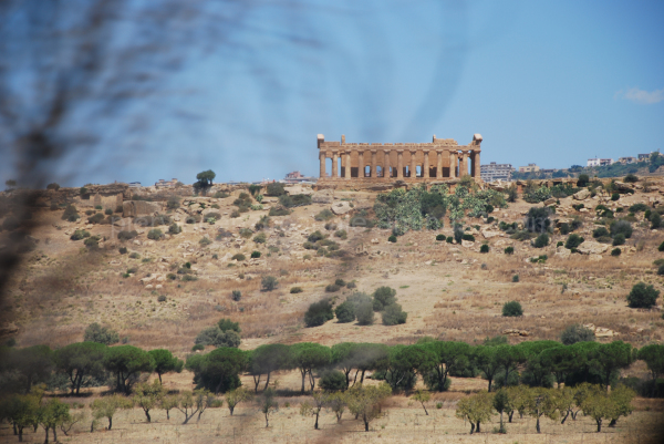 A view of old greek monument in Sicily, Italy.