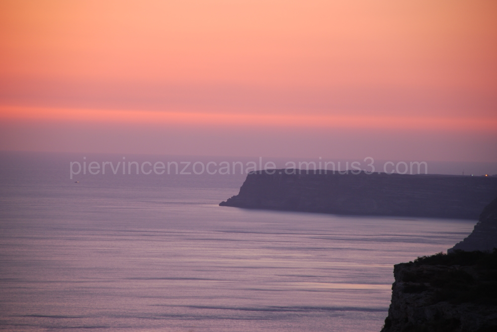 A view of sunrise from Lampedusa