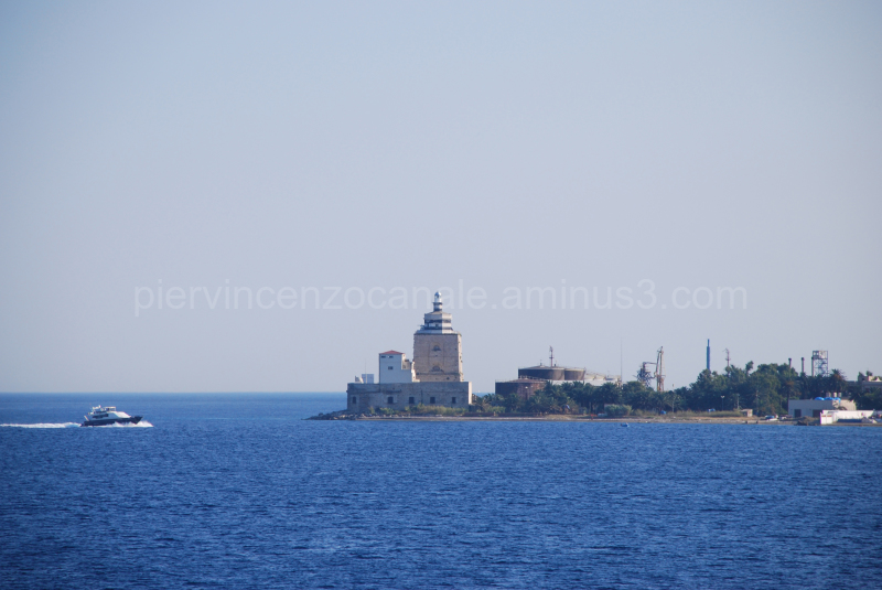 View of Messina by the sea. Sicily, Europe.