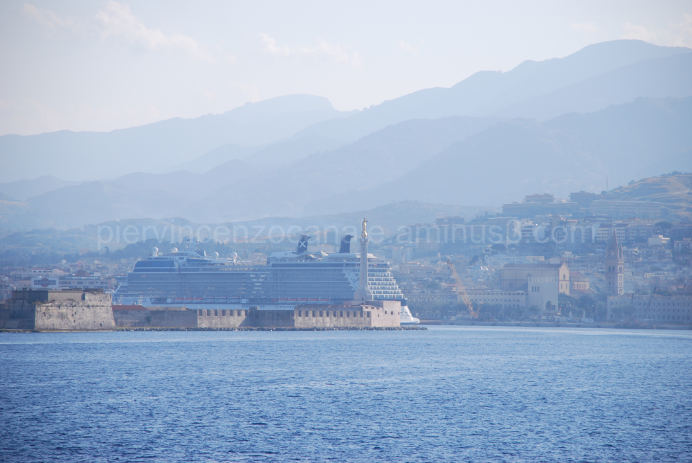 A view of Messina, Italy, Europe.
