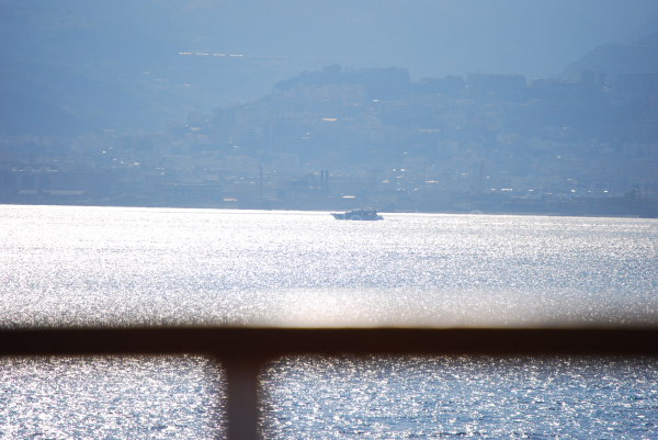 A view of Messina from the sea.