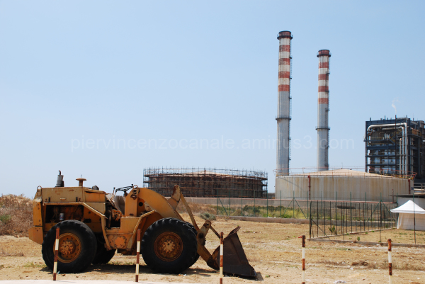A view of the industry in Sicily, Italy.