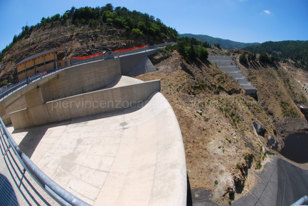 A view of a dam in Aspromonte, southern Italy.
